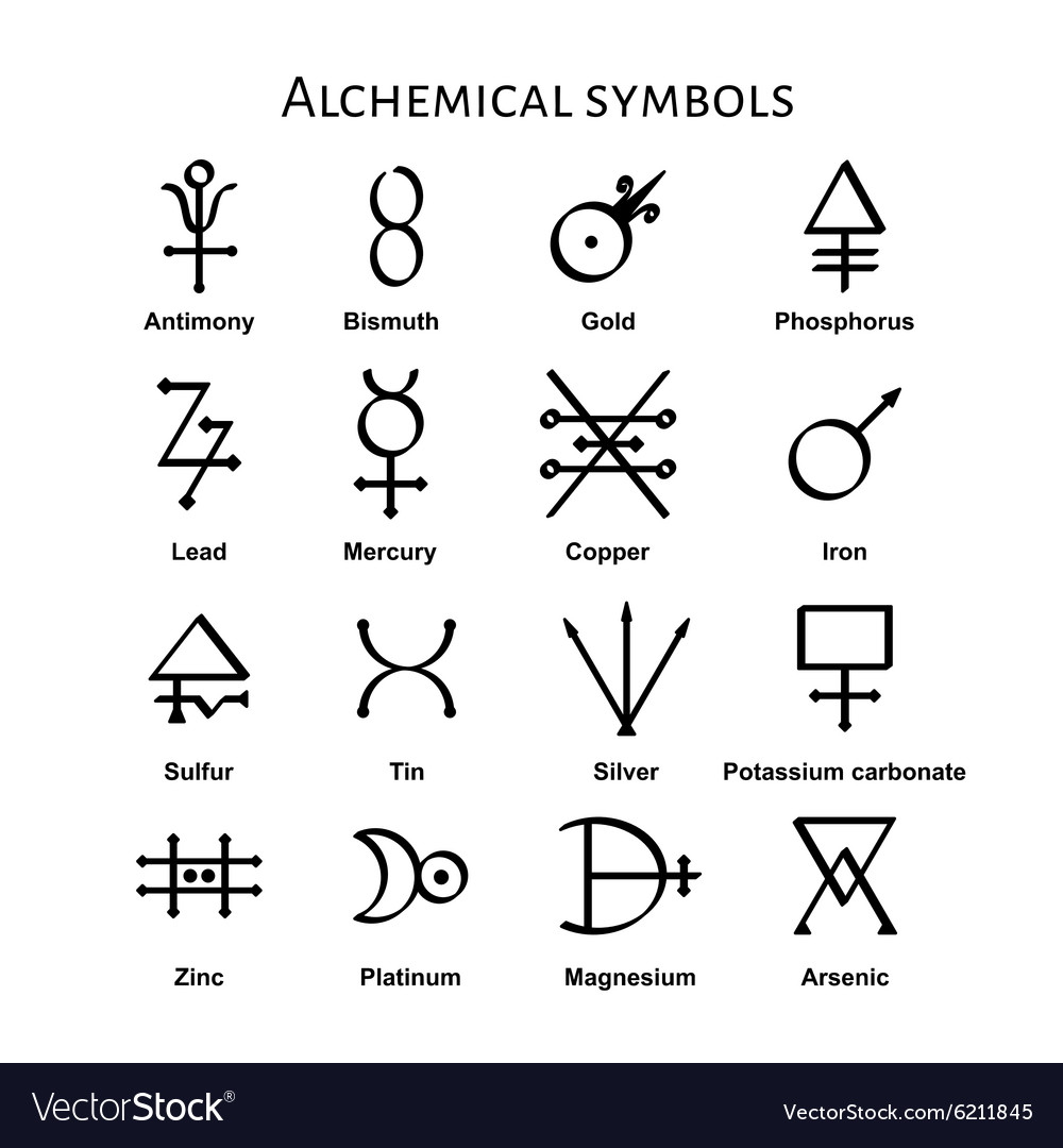 Alchemical Symbols vector image