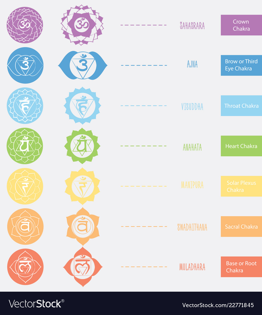 Chakras icons the concept of chakras used in