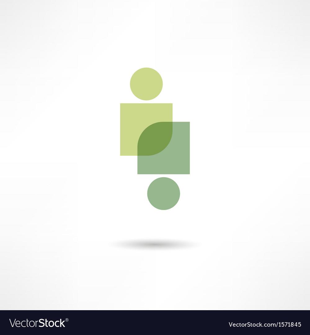 Eco people icon