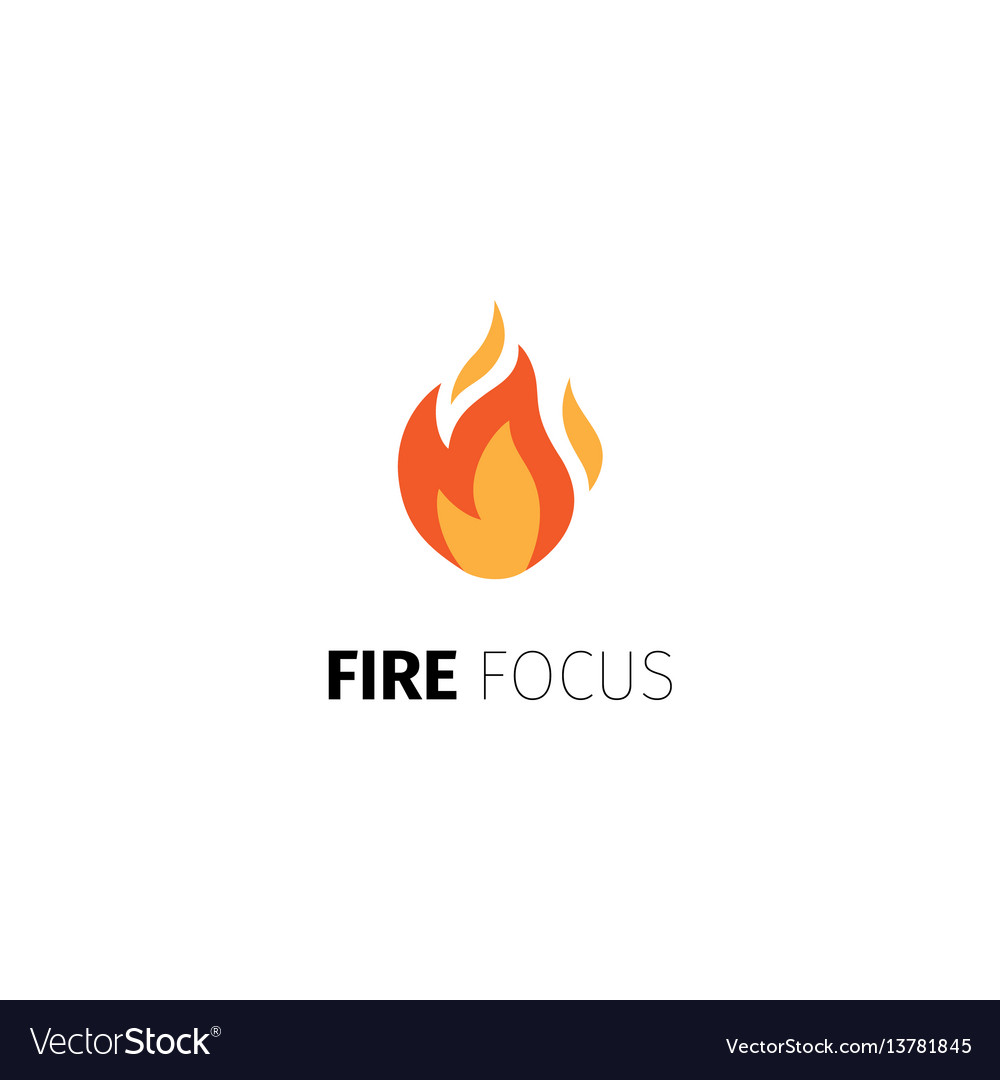 Fire focus logo template