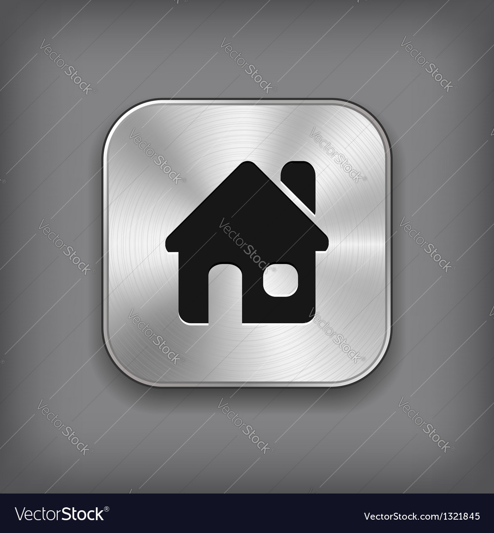 Home icon - metal app button