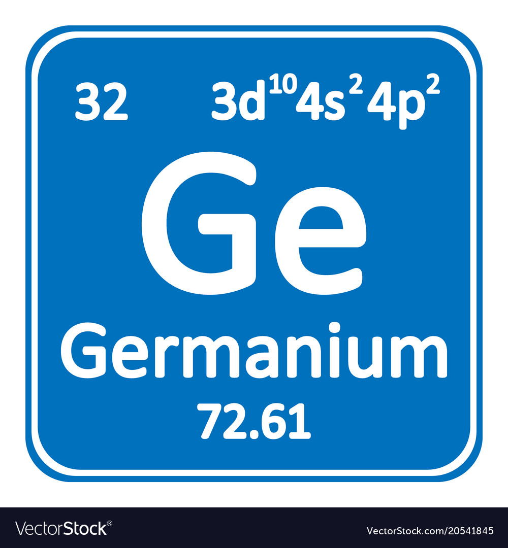 Periodic Table Element Germanium Icon Royalty Free Vector