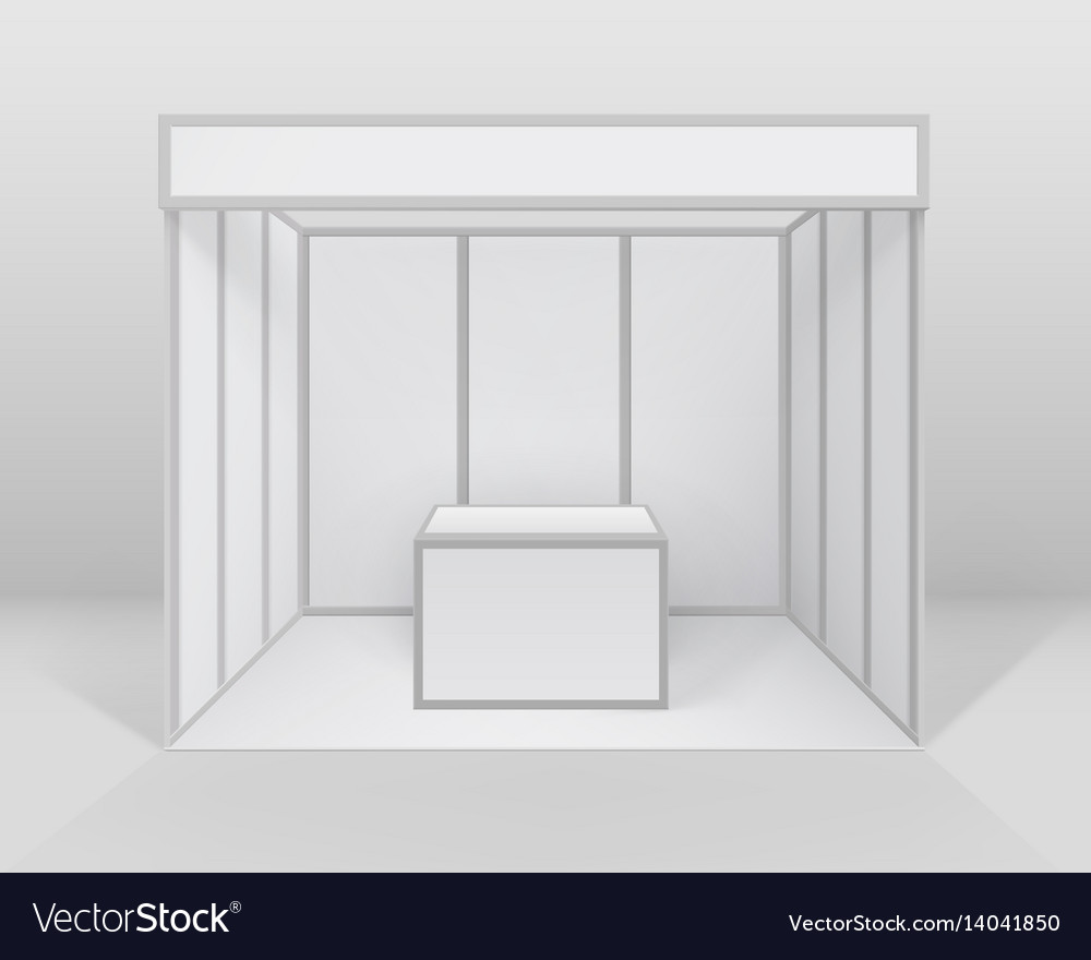 Small Exhibition Stand Mockup : Exhibition booth standard & stand vector images 22