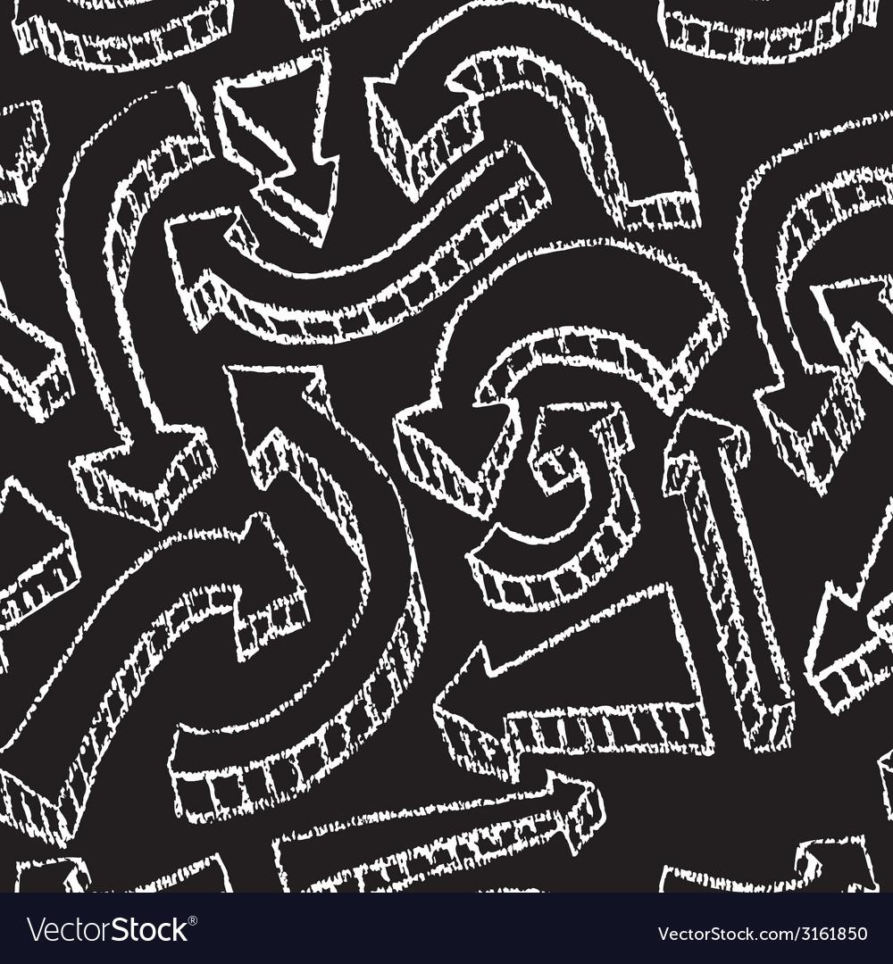 Chalkboard design elements Arrows Seamless pattern