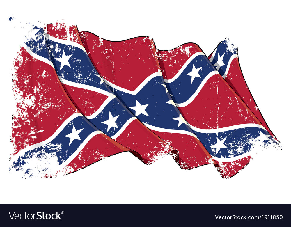 confederate rebel flag grunge royalty free vector image