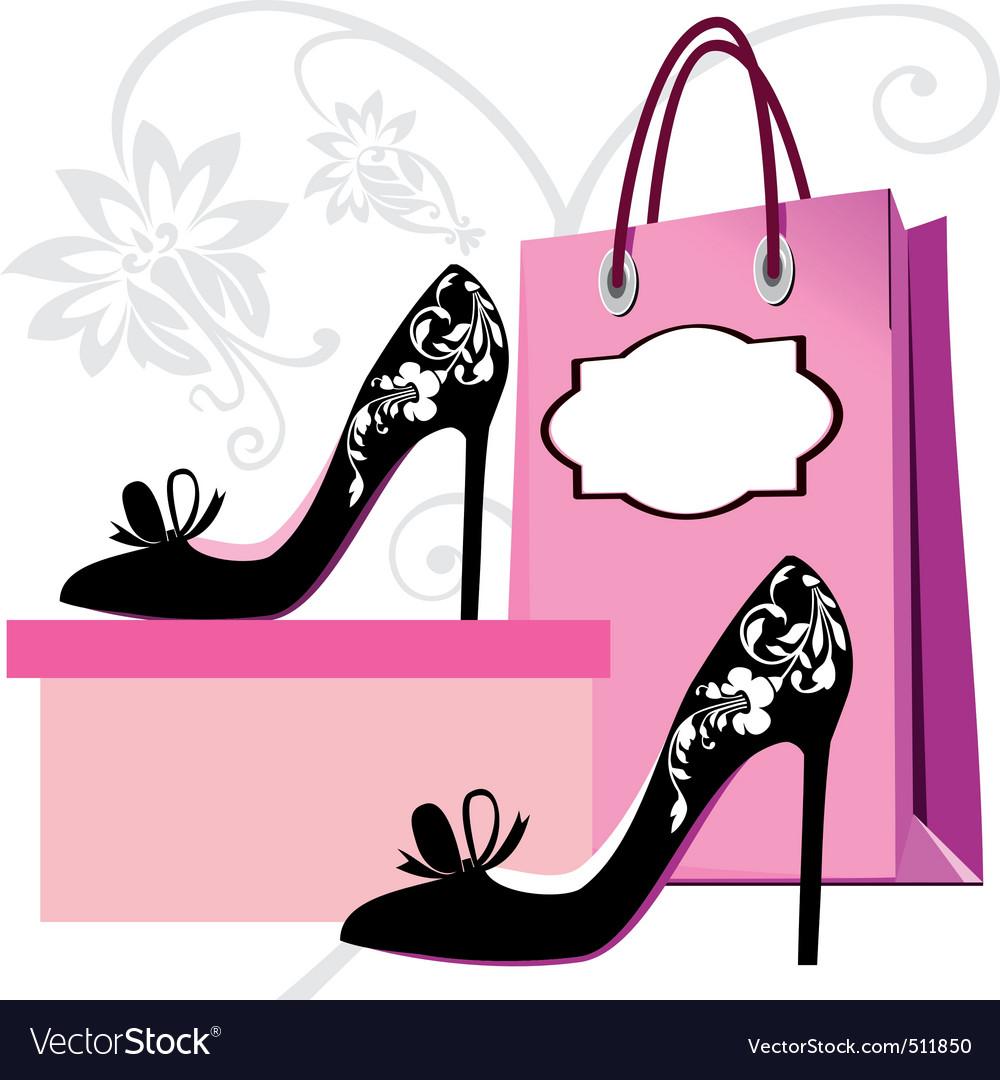 Fashion shoes shopping vector