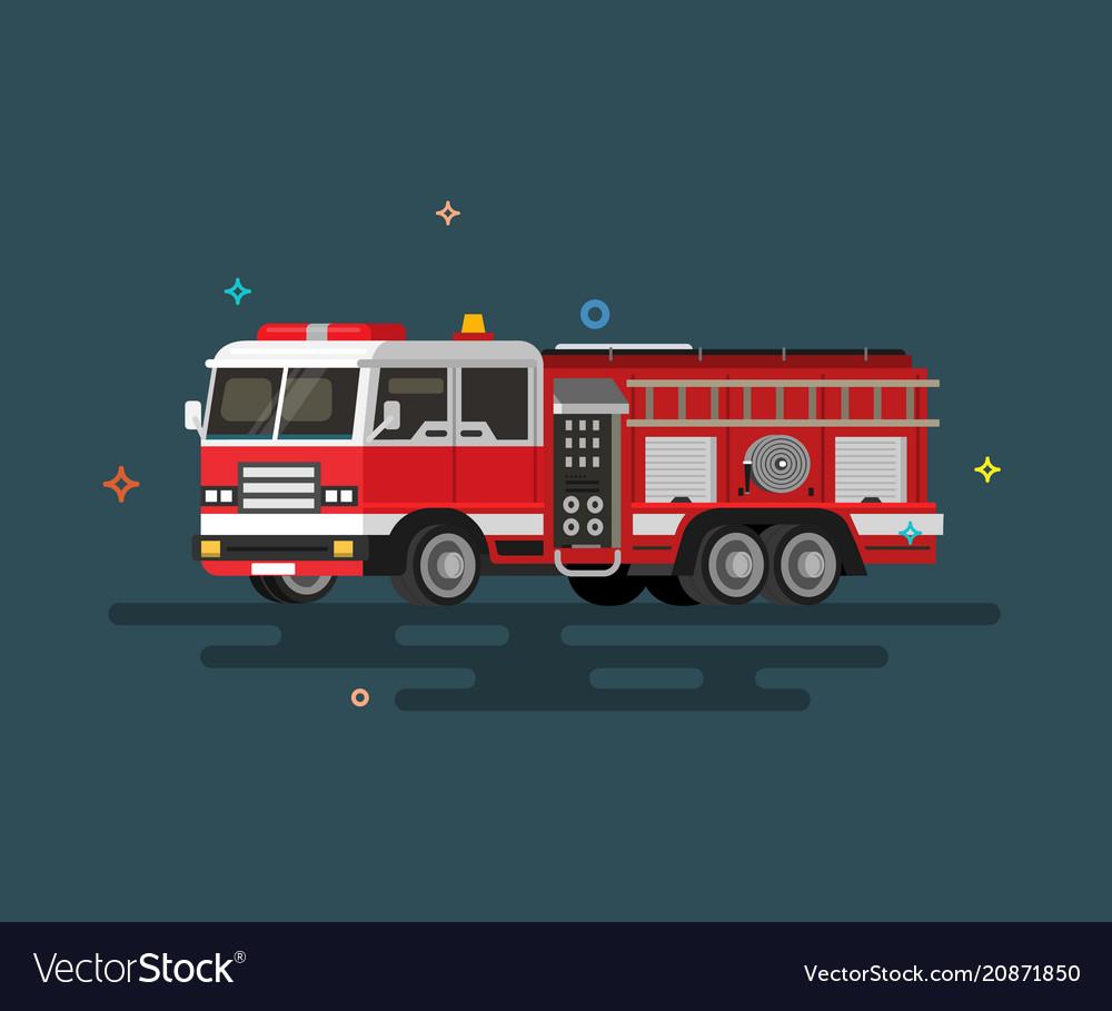 Flat fire engine