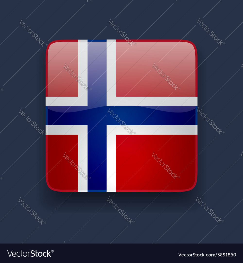 Square icon with flag of Norway