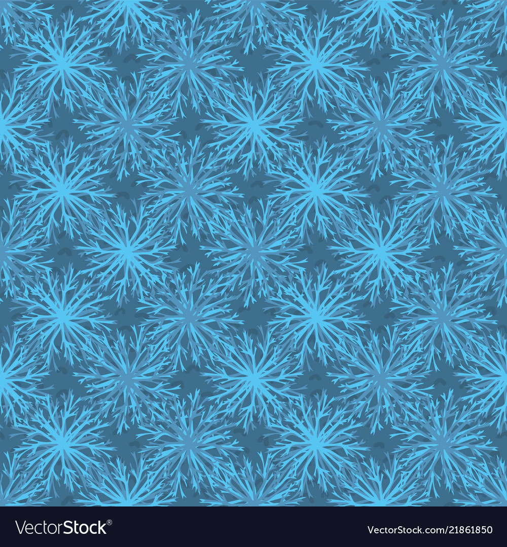 Trendy and blue festive christmas star snowflakes