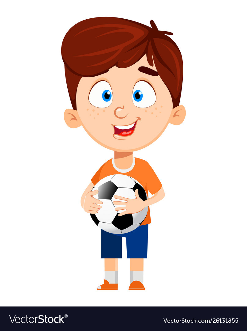 Boy Cartoon Character Cute Funny Child Royalty Free Vector