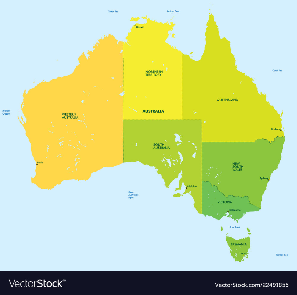 Map Of Australia Pdf.Color Map Of Australia