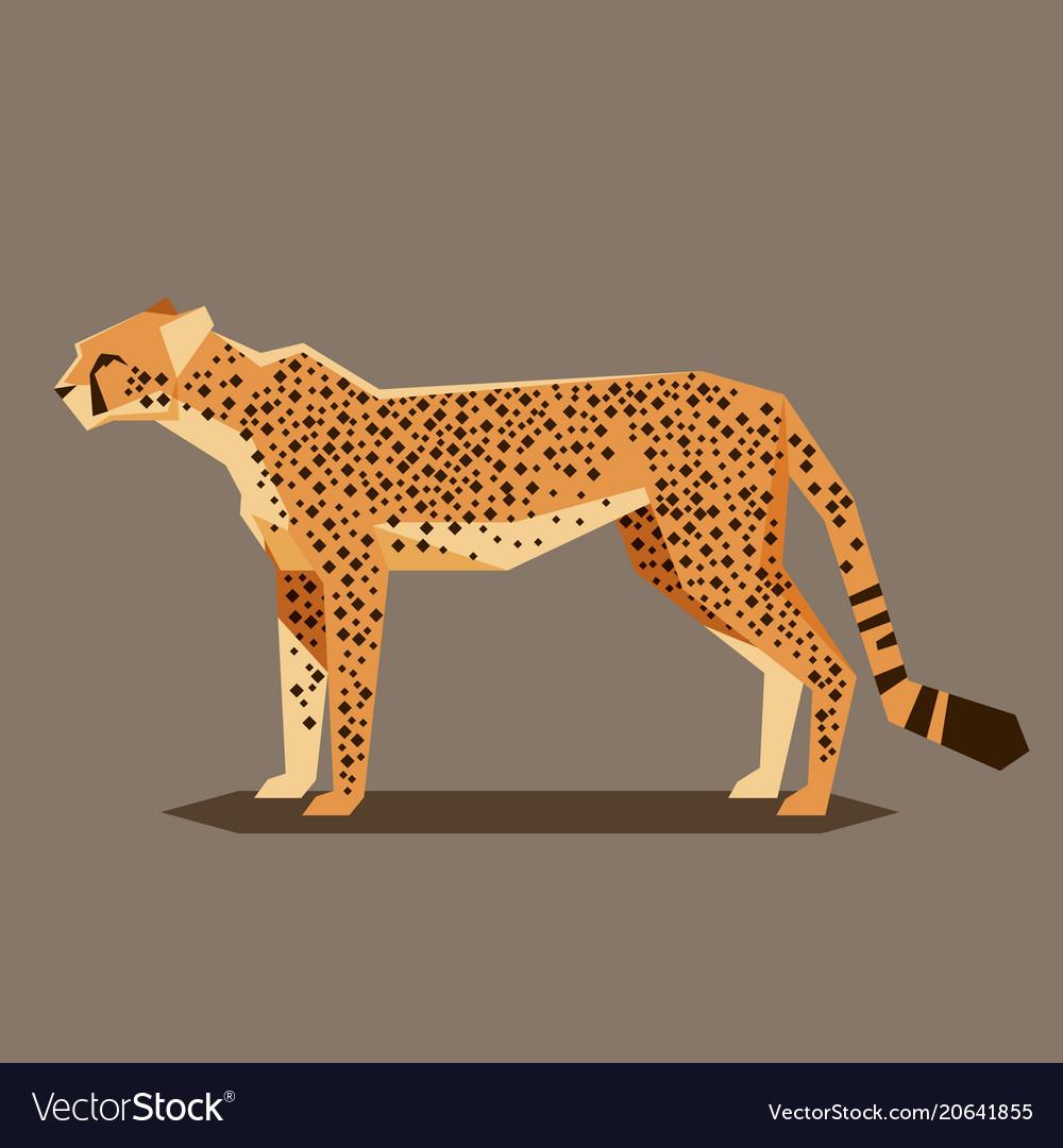 Flat geometric cheetah