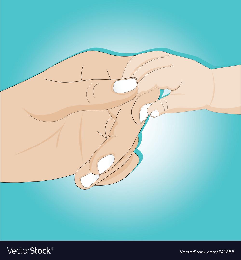 Gentle hands vector image