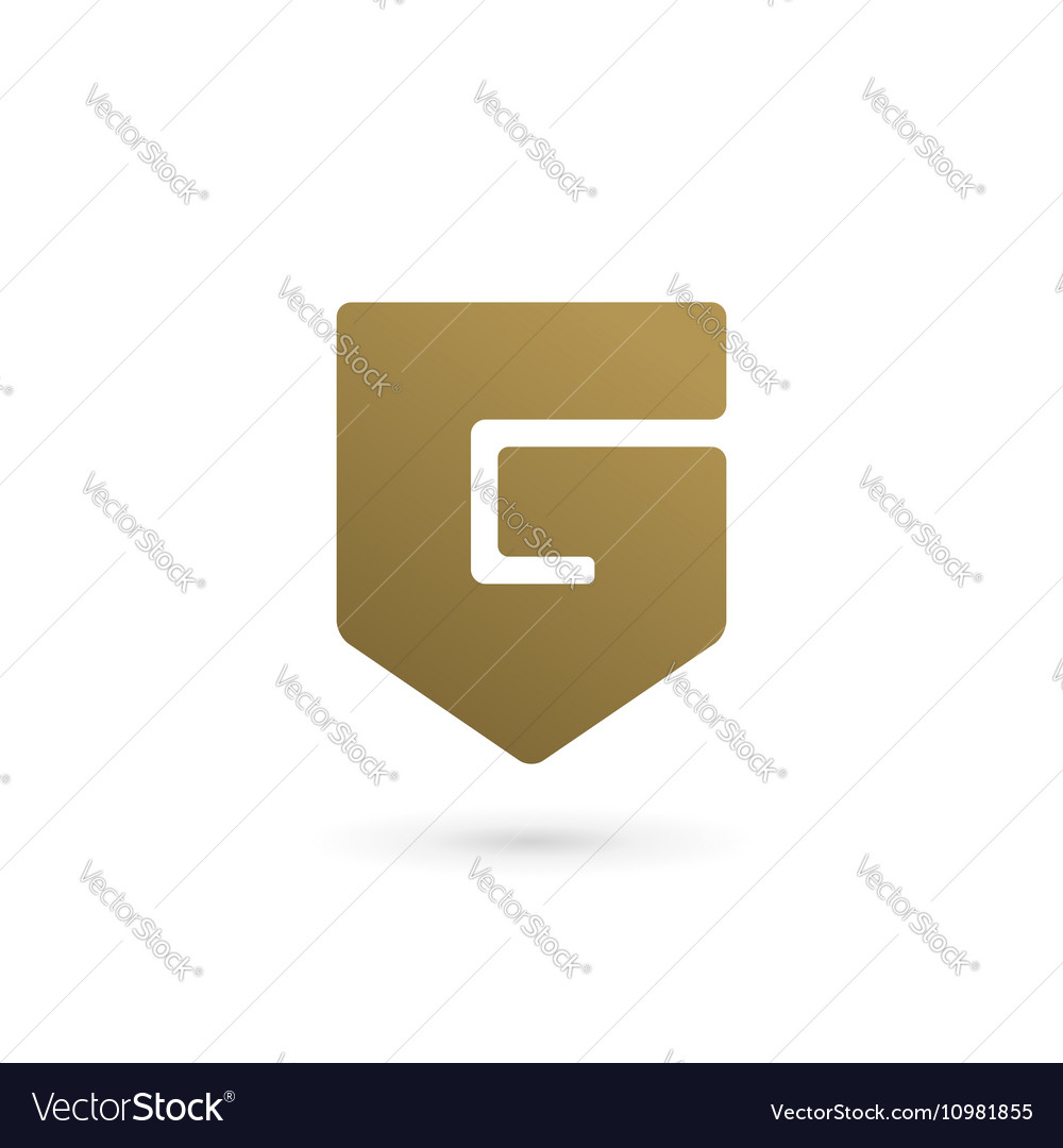 Letter G number 6 shield logo icon design template