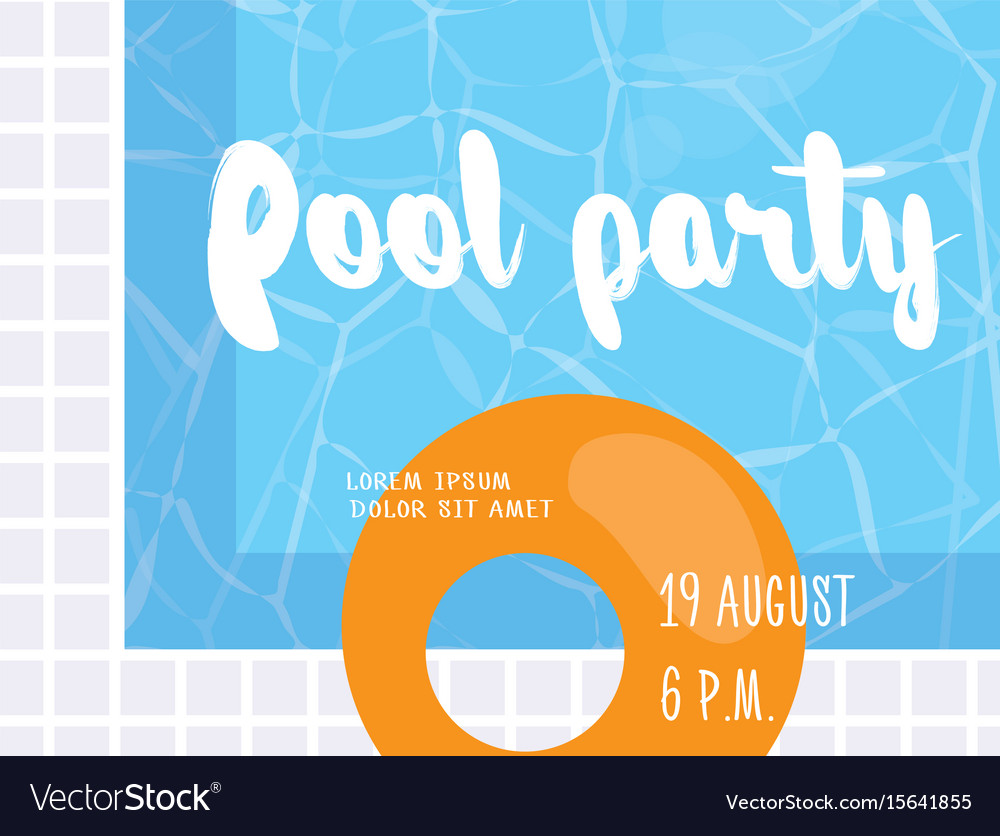 Pool party poster design template royalty free vector image pool party poster design template vector image maxwellsz