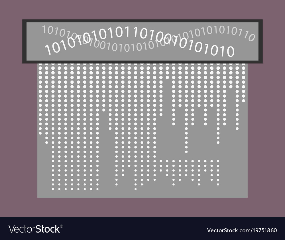 Abstract technology background binary computer