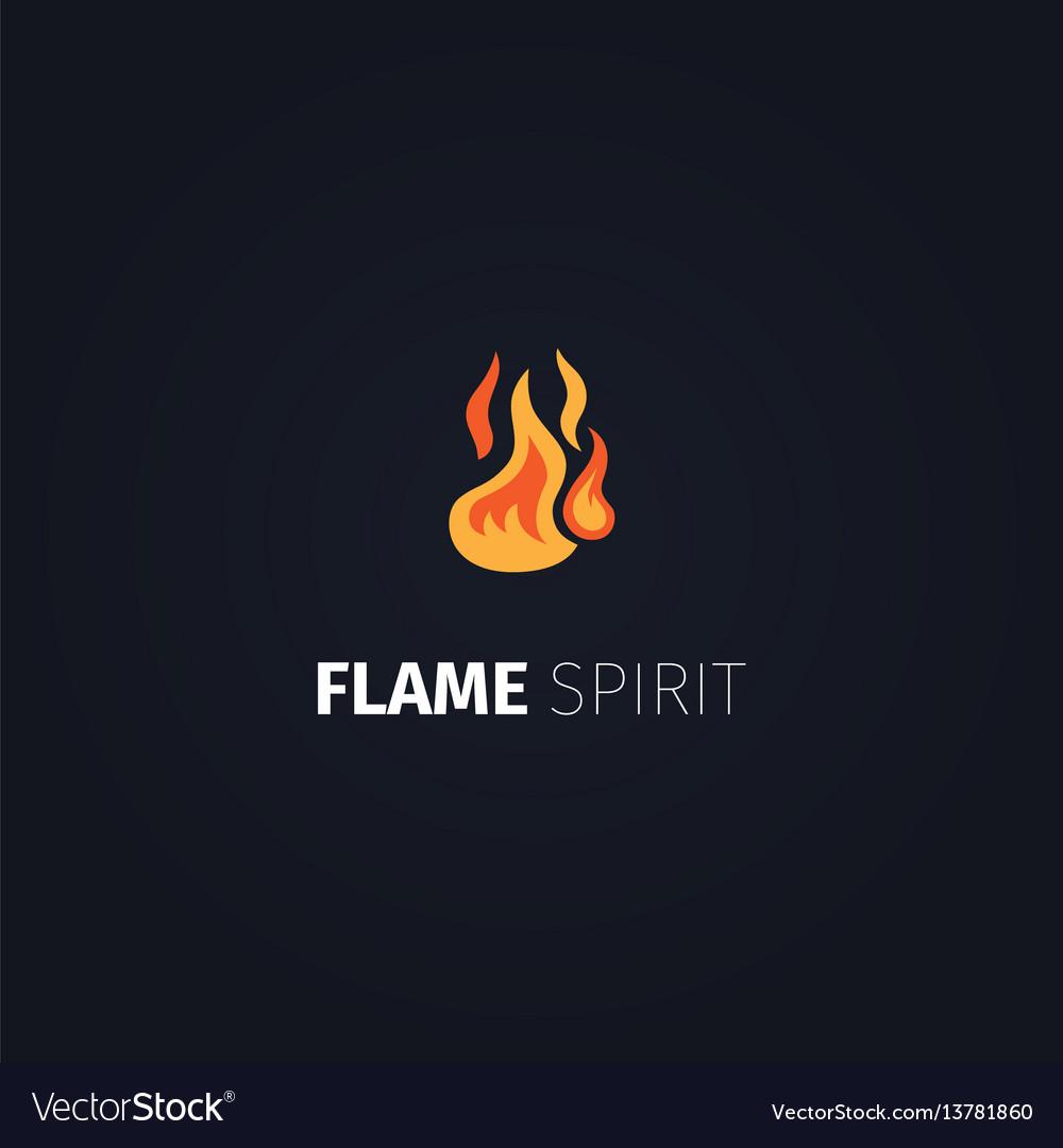Flame spirit logo template