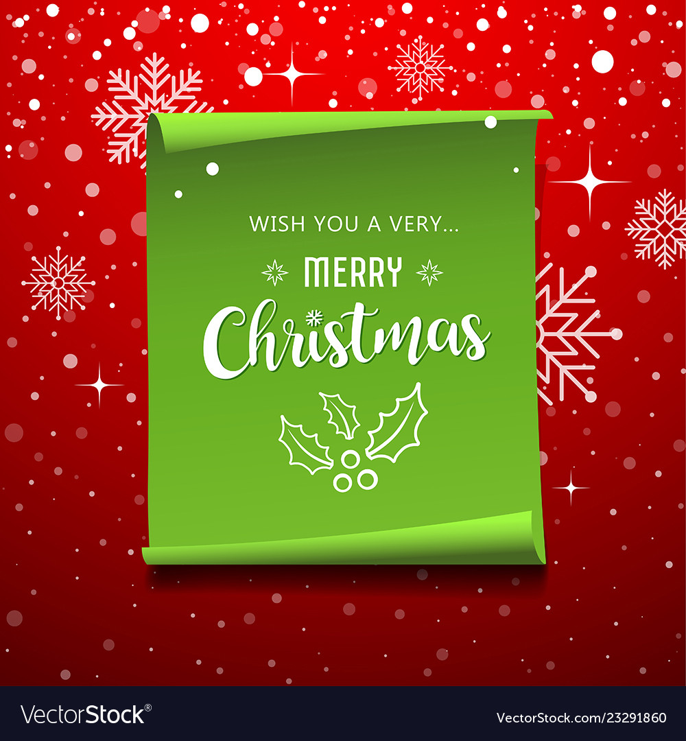 Green roll paper with snowflake christmas