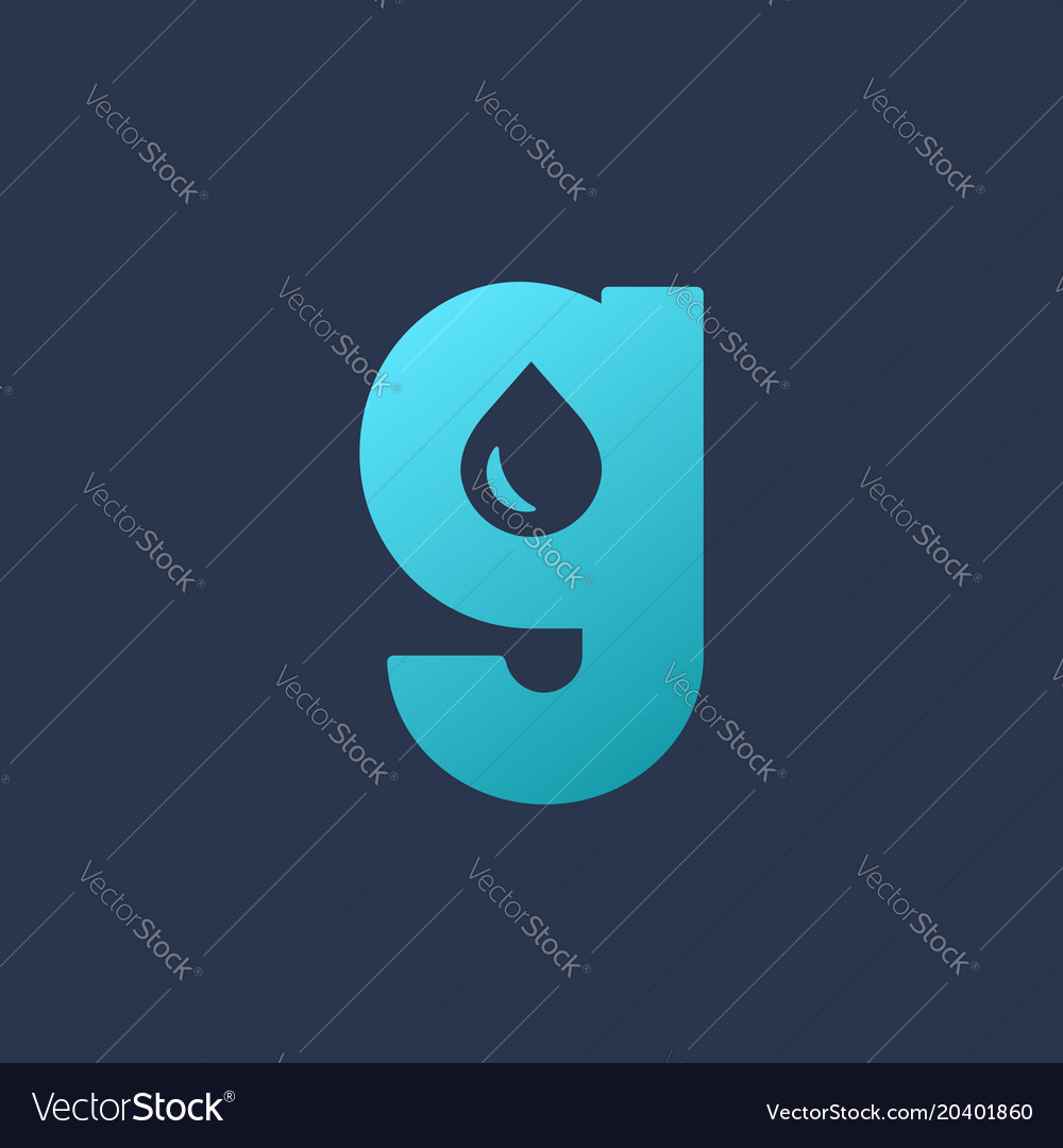 Letter g water drop logo icon design template vector image altavistaventures Images