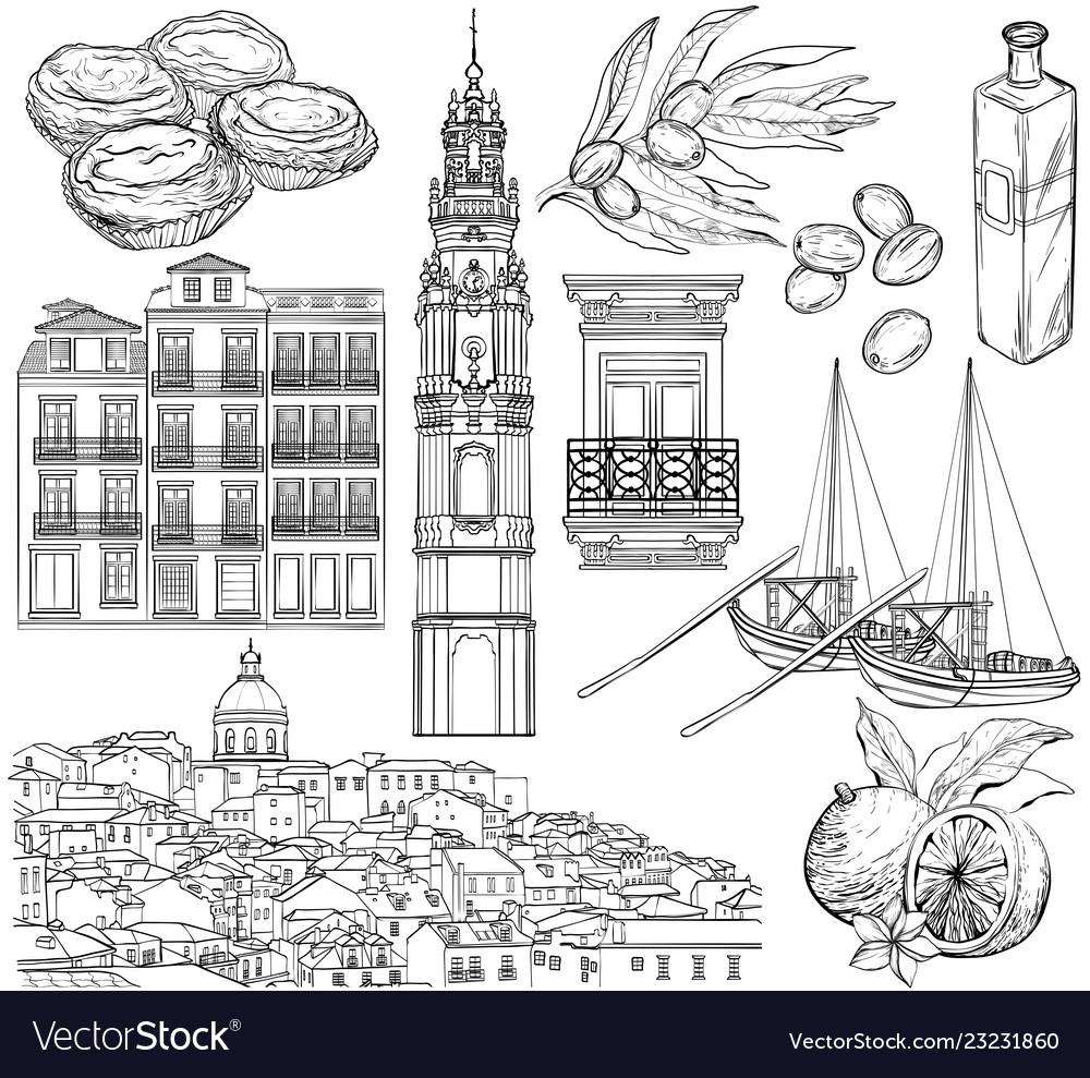Portugal drawings set