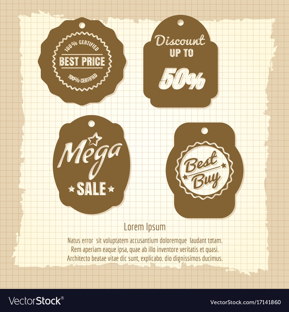 Vintage sale labels or banners design