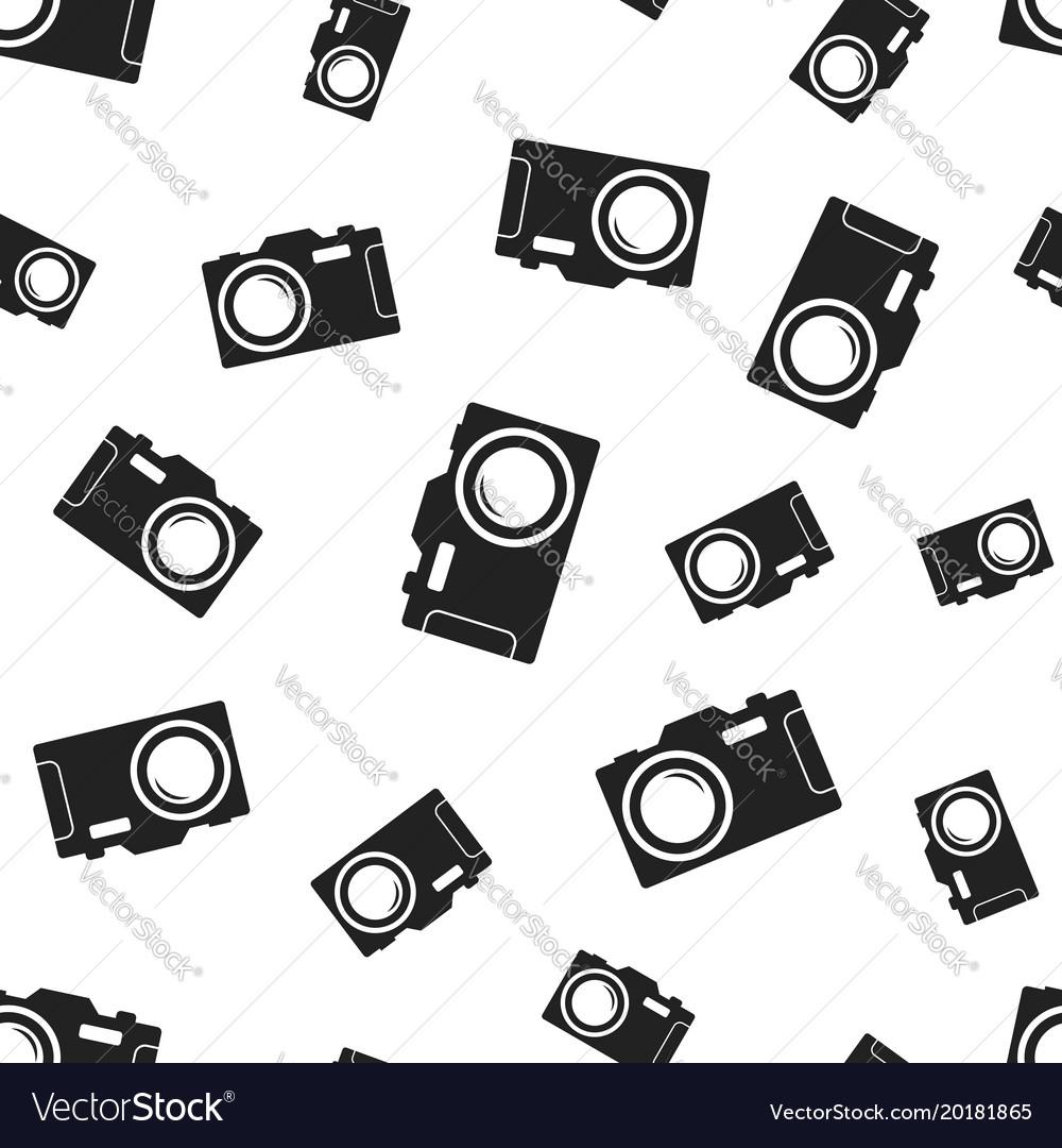Camera seamless pattern background business flat