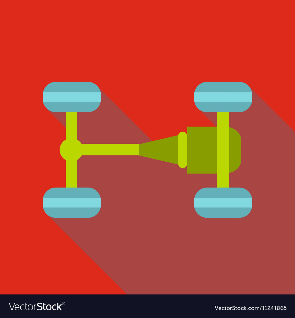 Car chassis icon flat style vector image