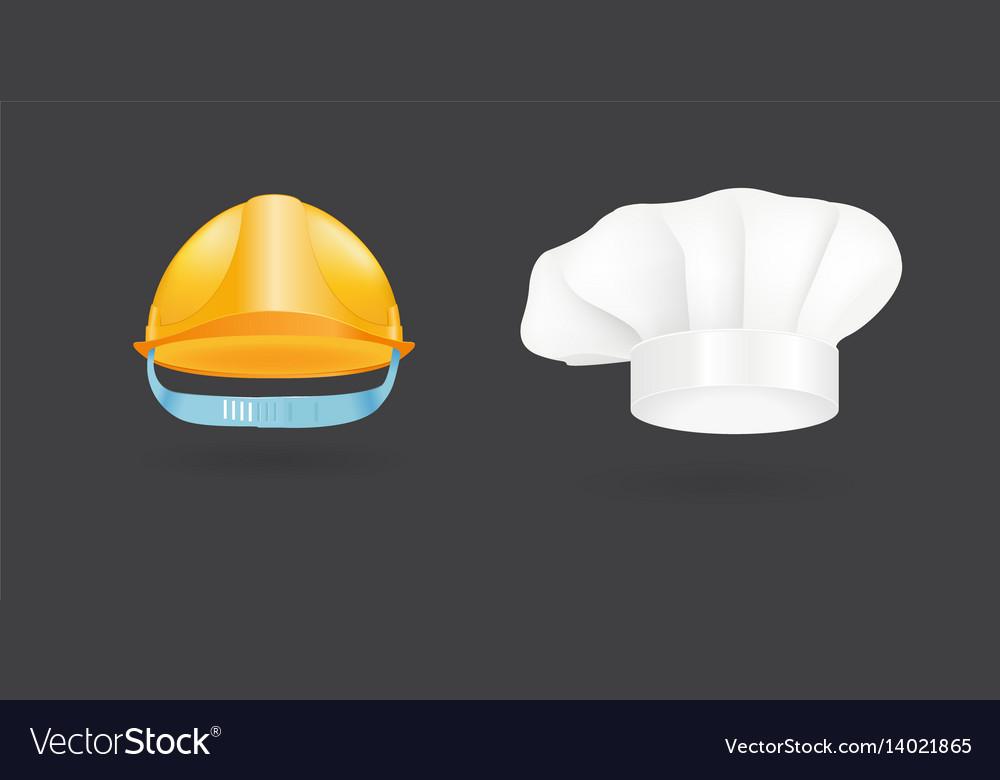 Different kind of fashion cook hat modern elegance