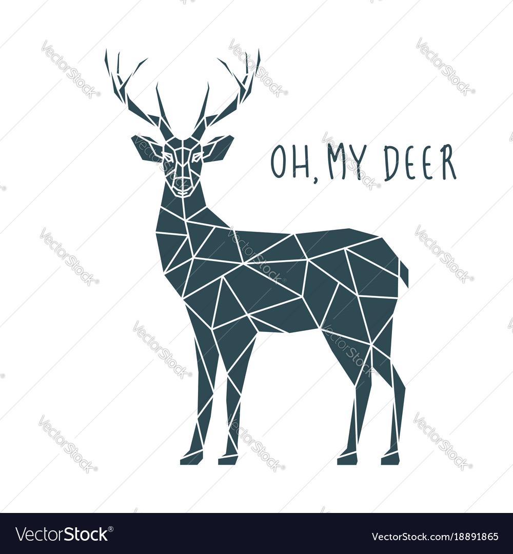 O Deer Oh my deer scandinavian deer vector image