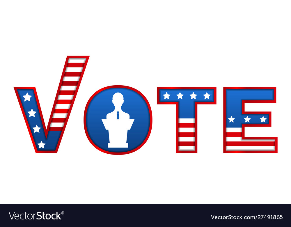 Patriotic 2020 voting poster vote template