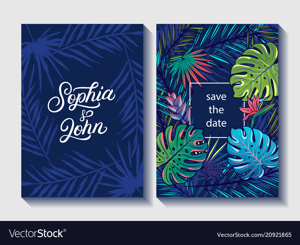 Save date wedding invite invitation