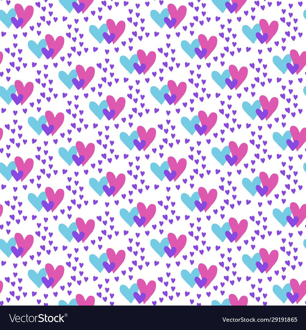 Valentines hand drawn seamless pattern-04