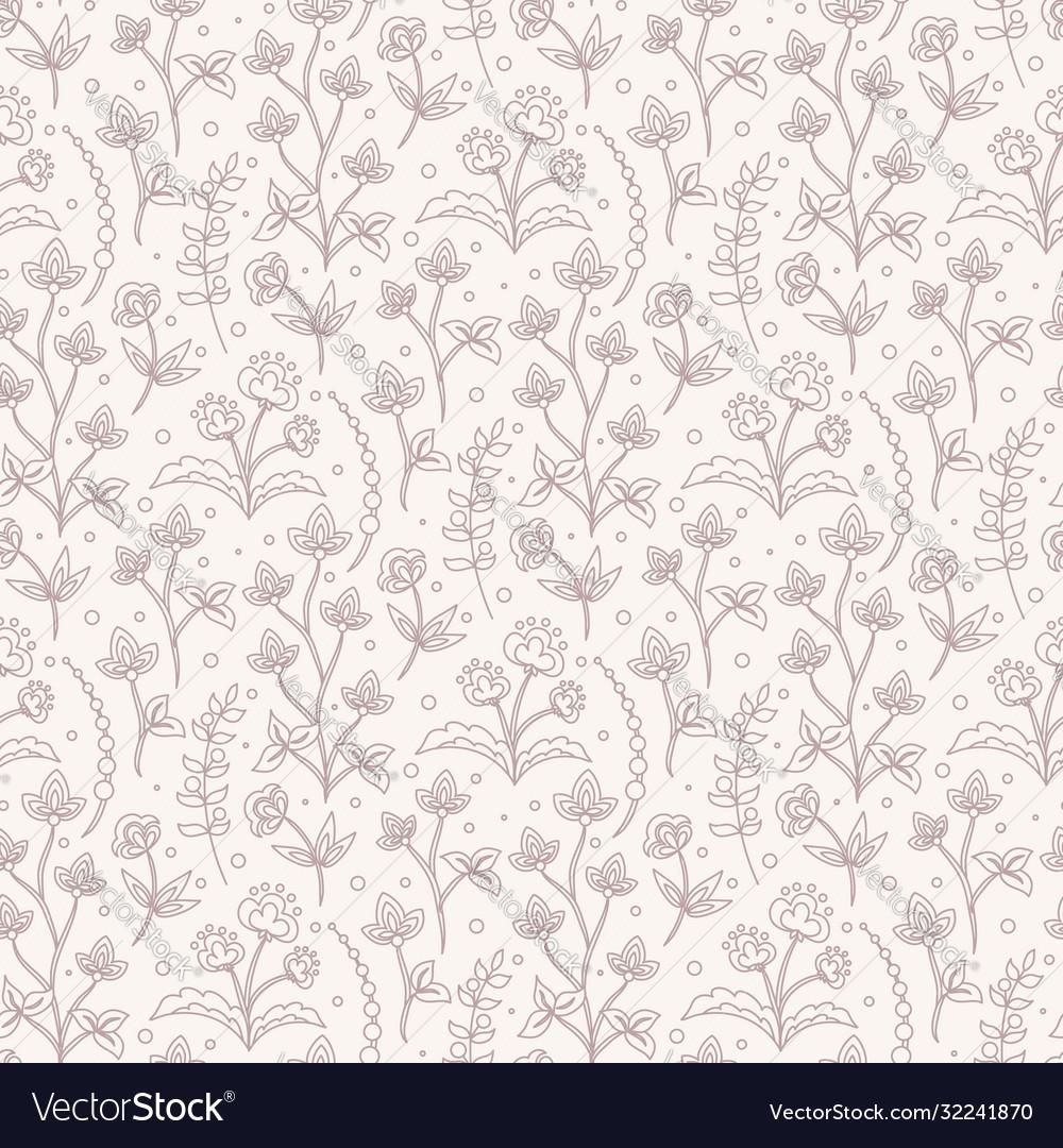 Jacobean floral pattern meadow flowers