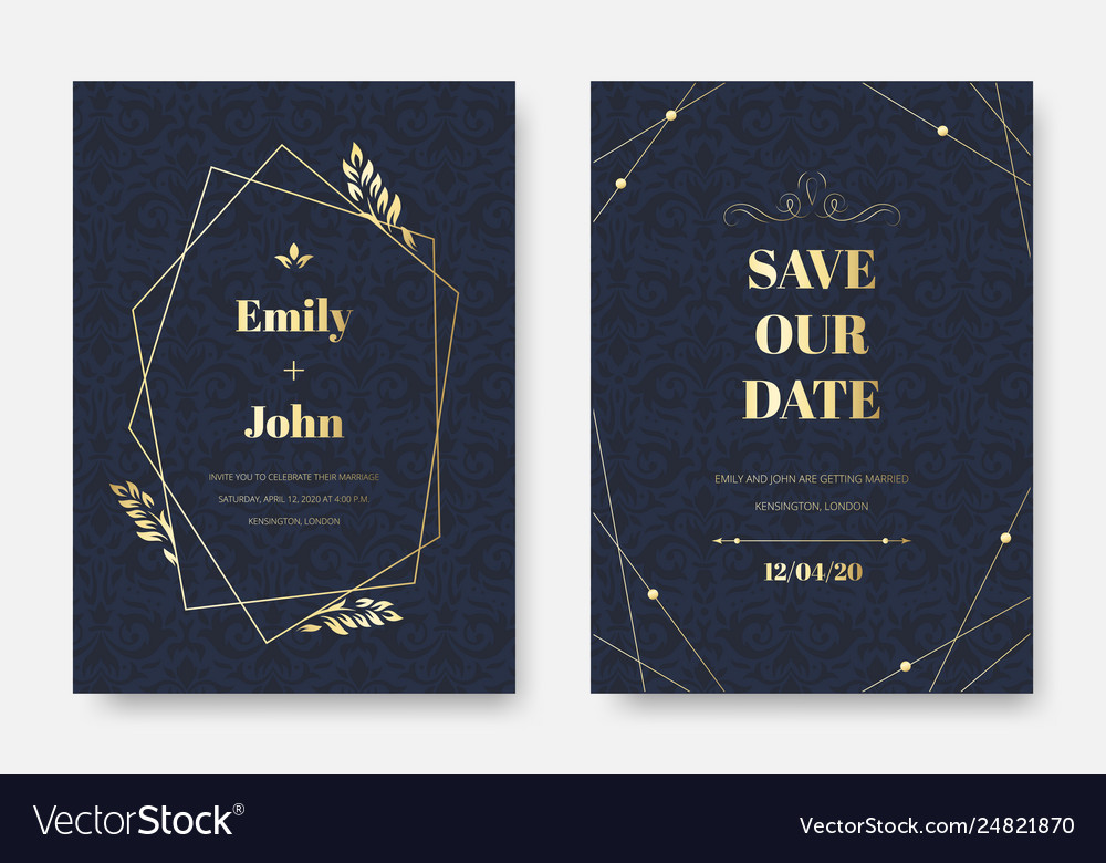 Modern Wedding Invitation Elegant Invite Card