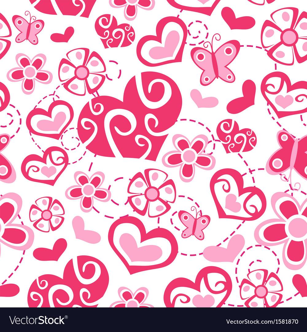 Seamless love pattern vector image