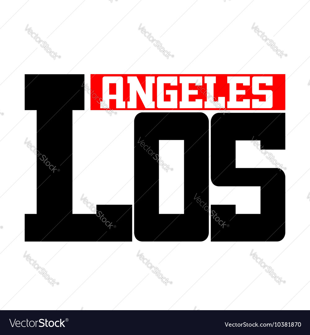 T shirt typography los angeles ca white
