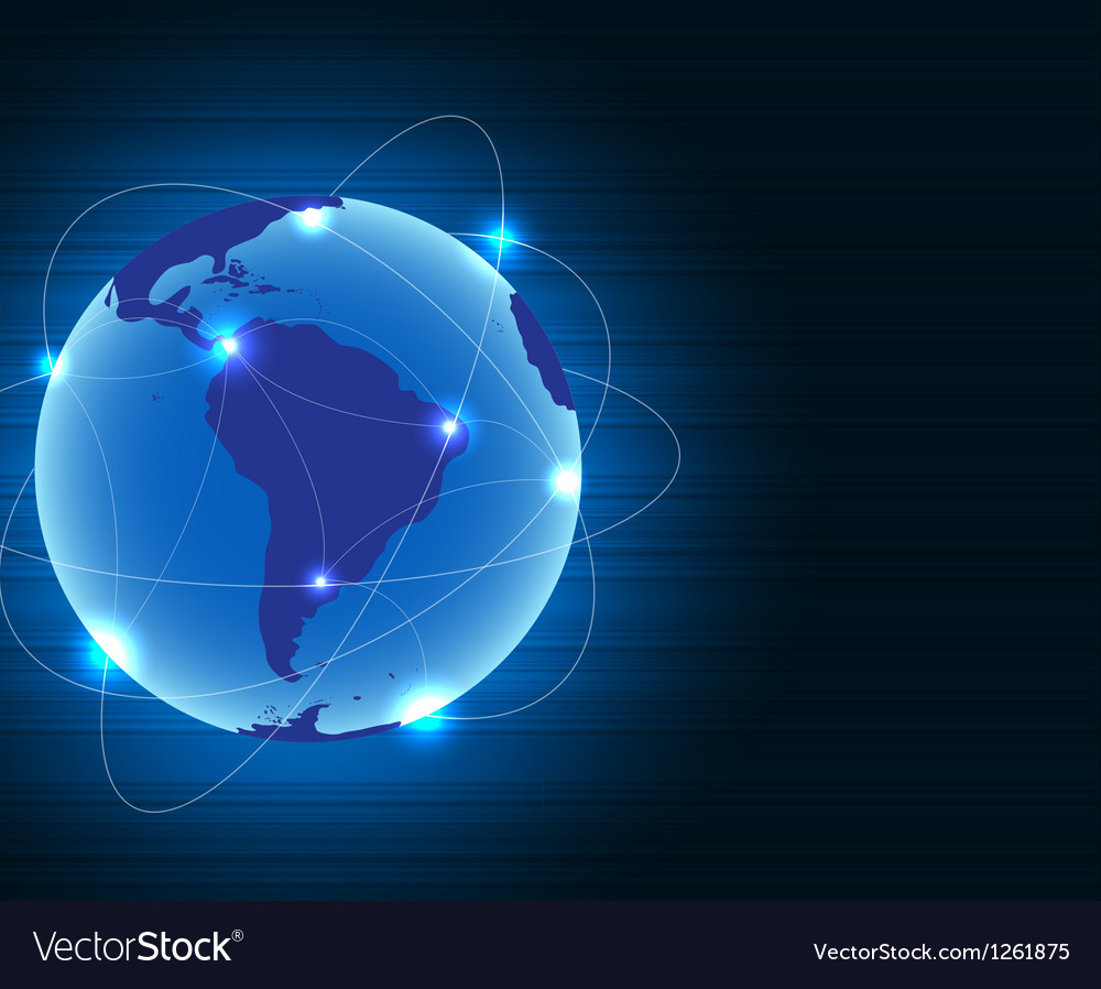 Abstract metal connection concept earth background vector image