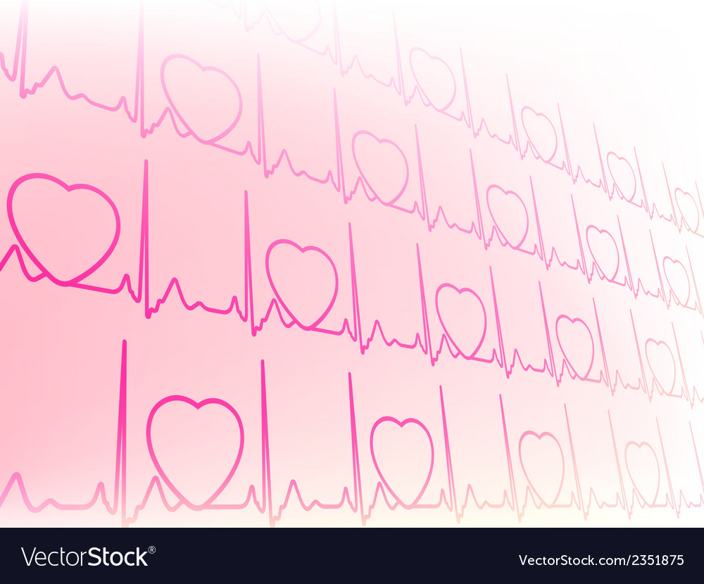 Abstract waveform from EKG test EPS8