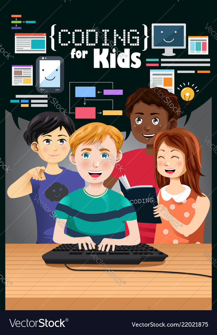 Coding for kids poster