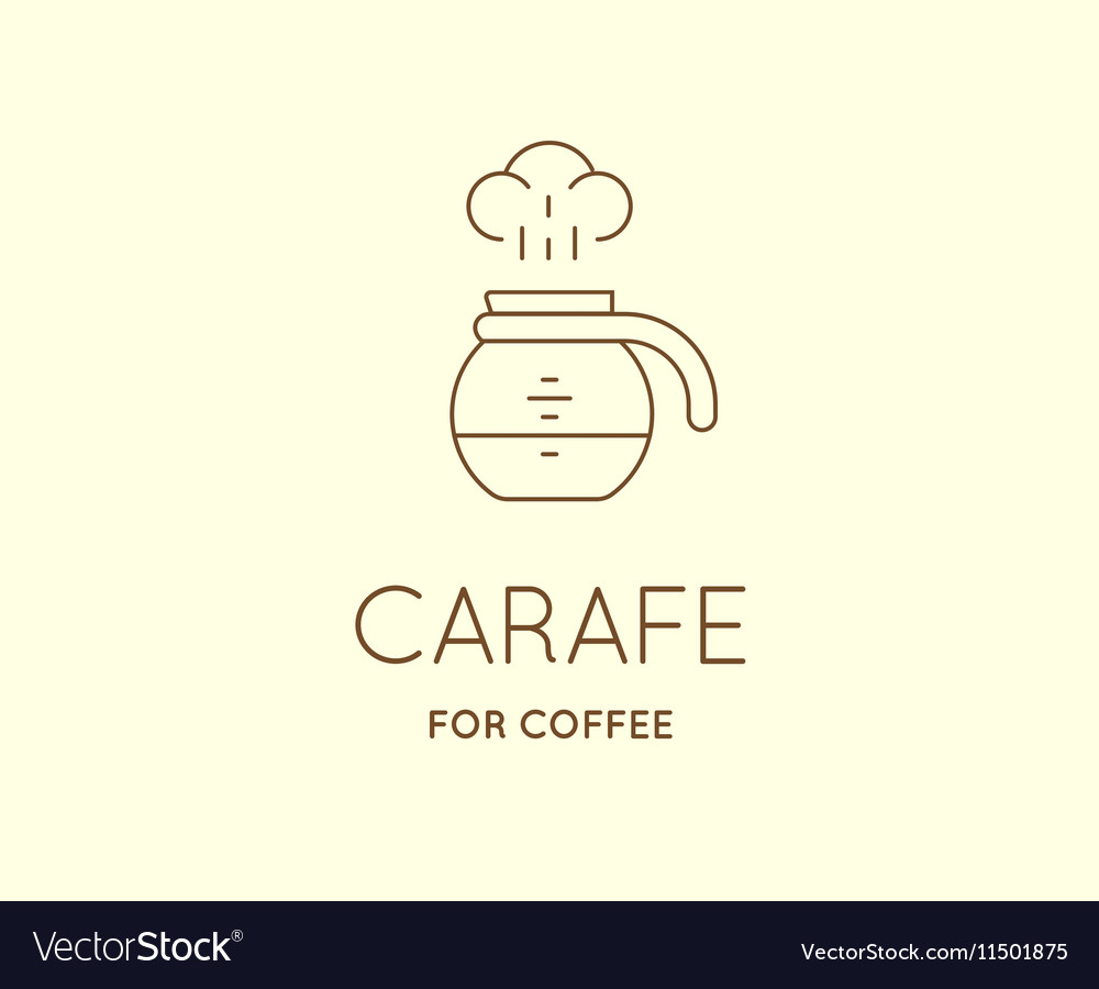 Coffee Accessories Icon with Letter Sign can be
