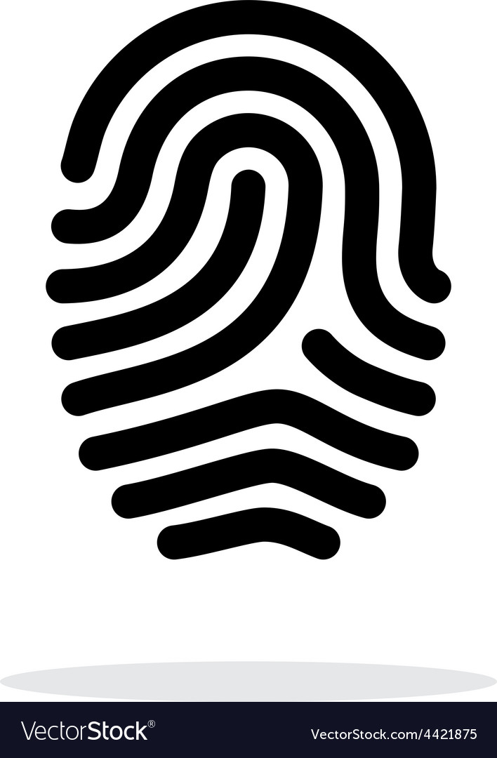 Fingerprint loop type icon on white background