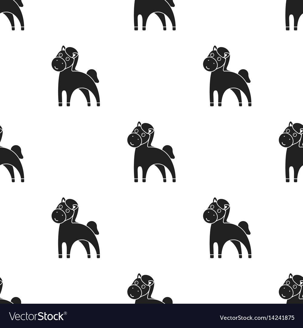 Horse black icon for web and mobile vector image