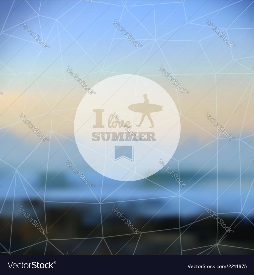 I love summer hipster blurred background