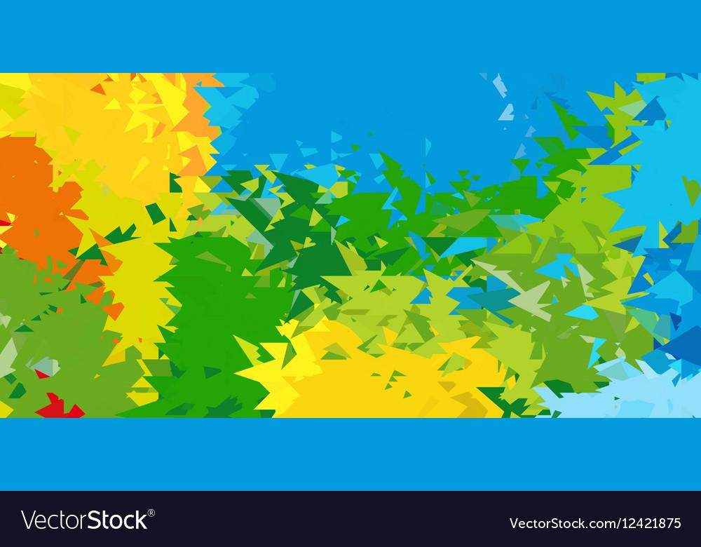 Summer background Polygonal colorful brazilian