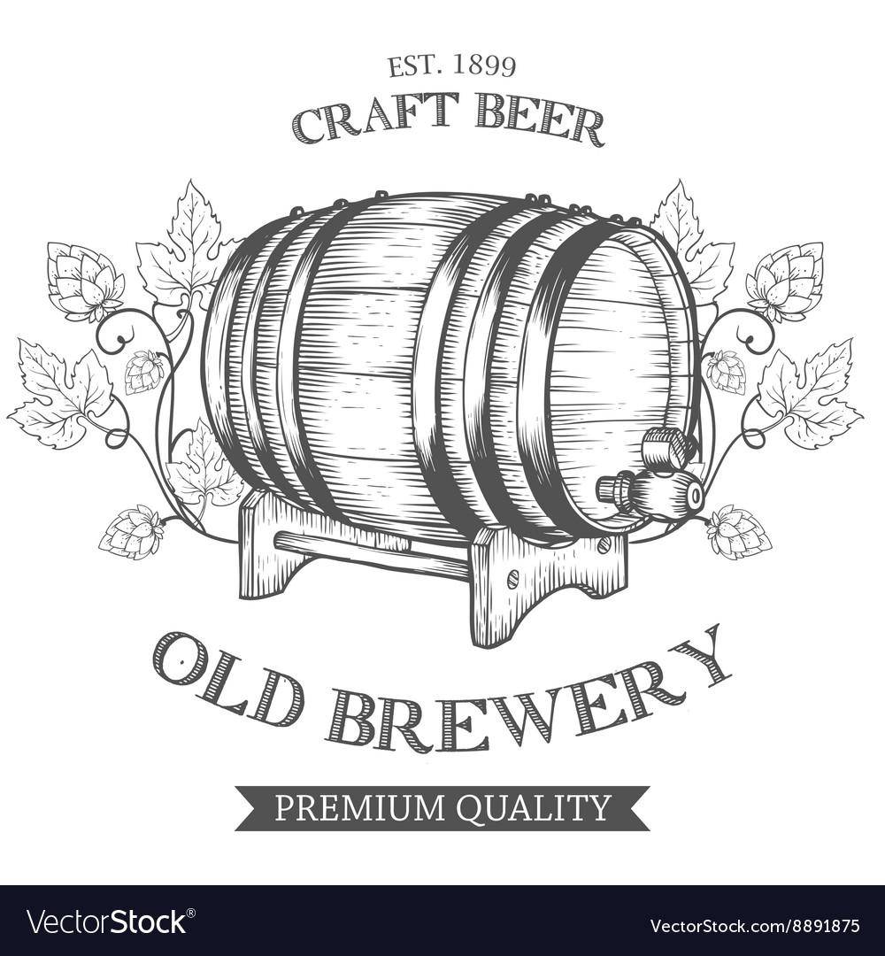 Wooden craft beer oktoberfest old brewery