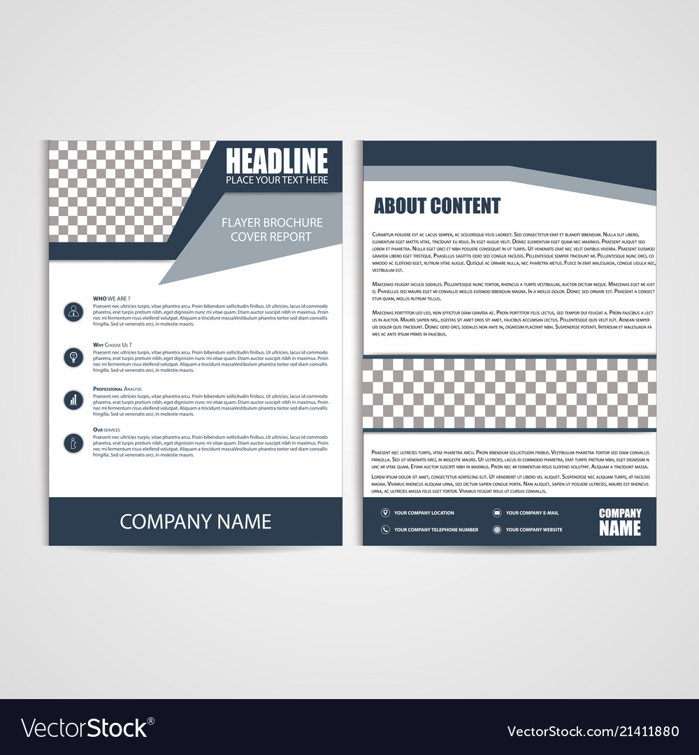 Brochure design flyer template