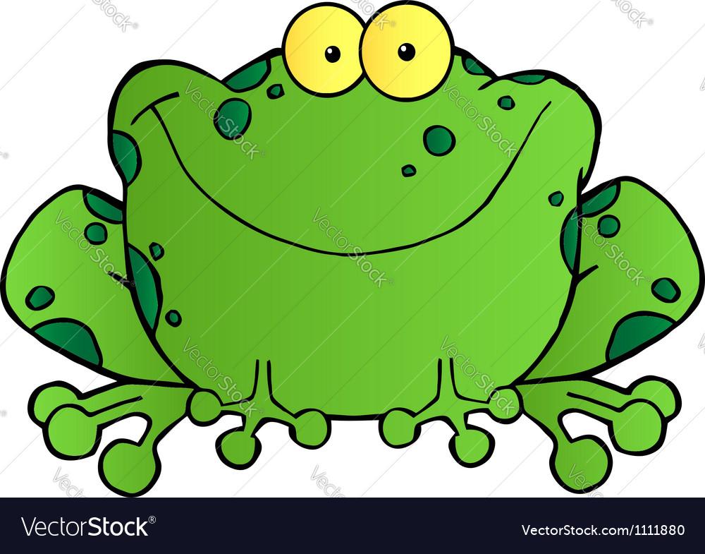 Fat Frog Cartoon Mascot Character