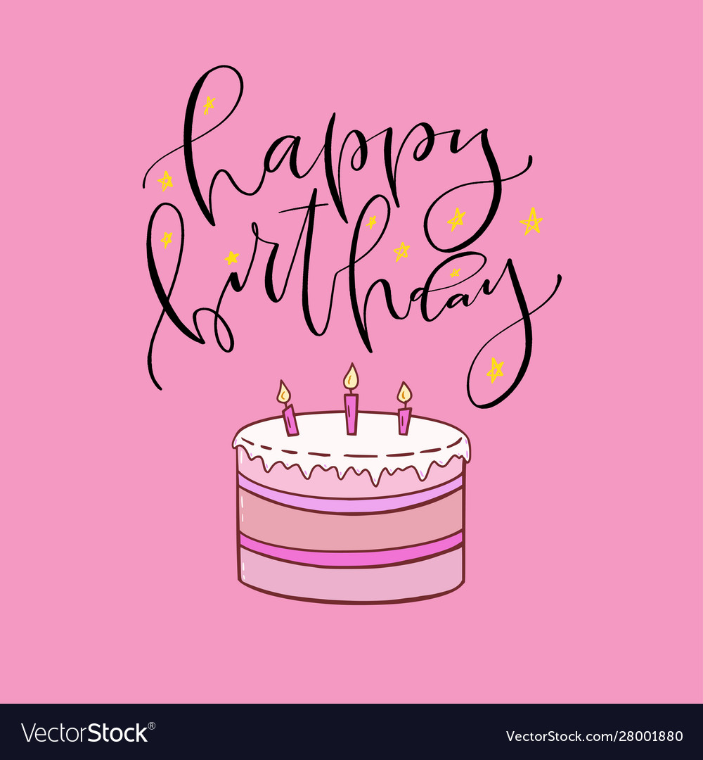 Prime Happy Birthday Card With Sweet Cake Printable Vector Image Funny Birthday Cards Online Barepcheapnameinfo