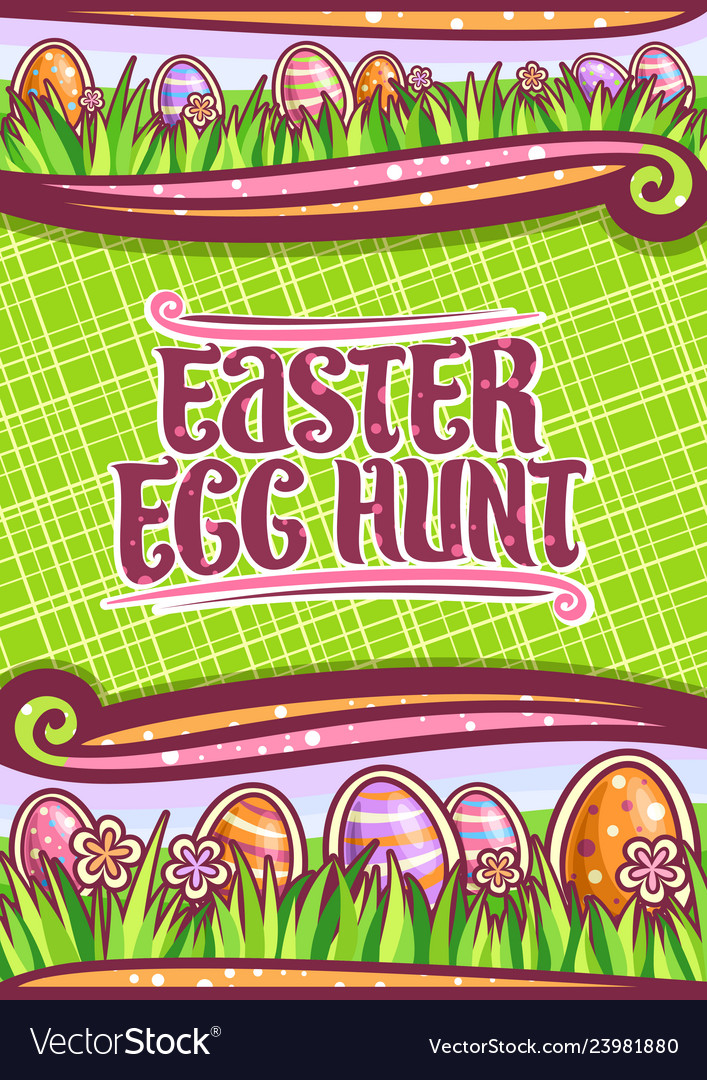 Poster for easter egg hunt