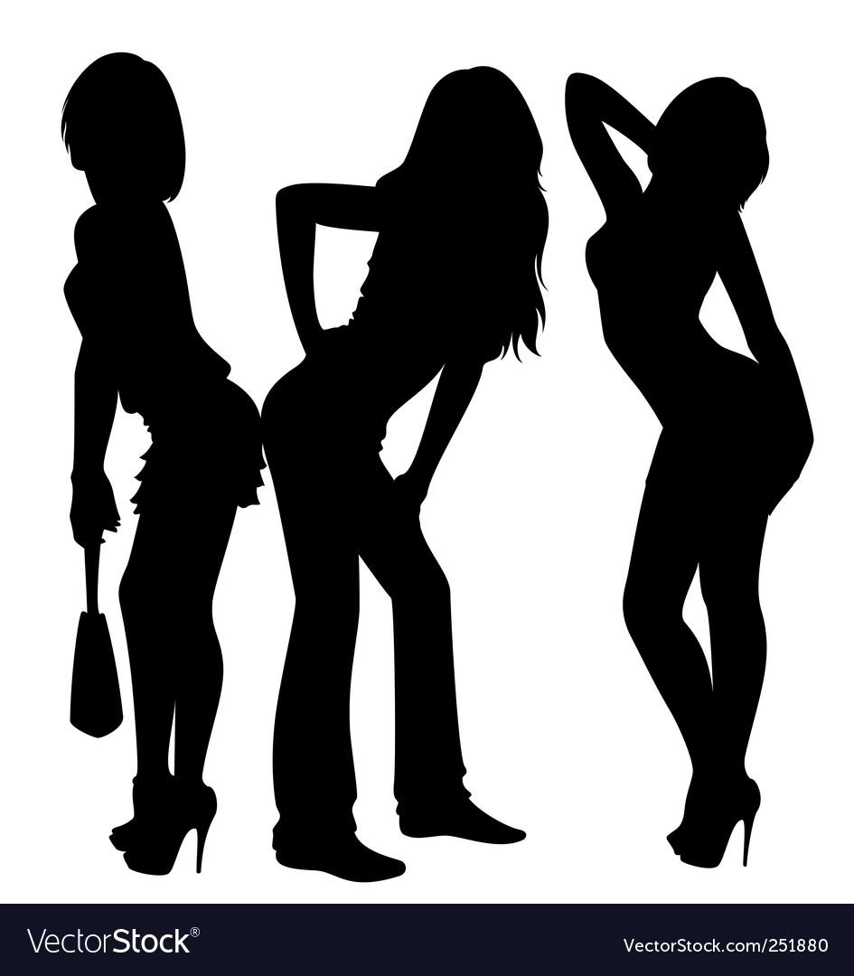 Sexy ladies vector image